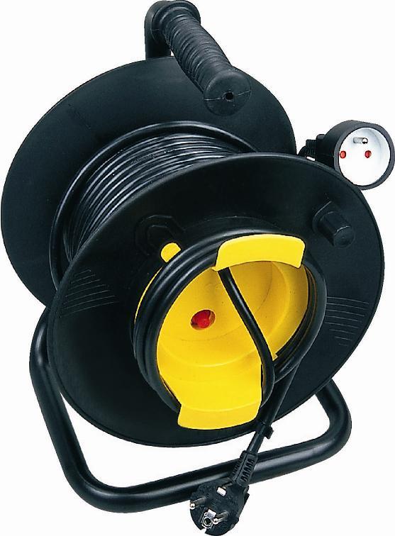 Prodlužovací kabel - GUMOVÝ - buben - naviják - 25m – jednozásuvka